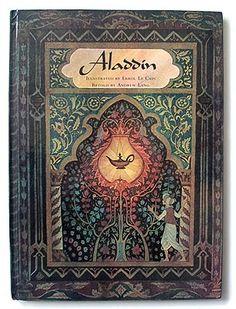 Errol Le Cain's design for Andrew Lang's retelling of 'Aladdin'. #books #aladdin