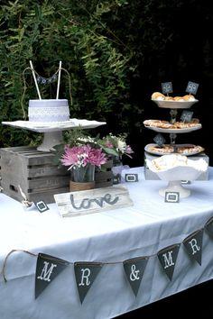 Bridal shower ideas www.sweetlychicevents.com  Lavender and lace rustic bridal shower #bridalshower