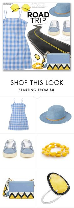 """""""Casual Day Dress"""" by jecakns ❤ liked on Polyvore featuring RVCA, Yves Saint Laurent, Kim Rogers, Prada and Christina Debs"""