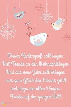 #sprüche #weihnachten #grußkarte #weihnachtskarten Diese und weitere schöne Weihnachtssprüche findet Ihr auf ROOMBEEZ ✵