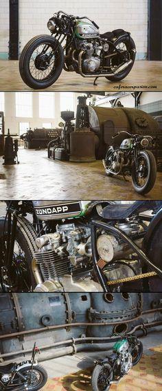Honda CB550 Bobber by Tin Can Customs #bobber #motorcycles #motos | caferacerpasion.com