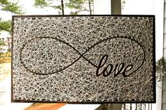 26x16 Infinity Love Sign String Art Love String by DistantRealms