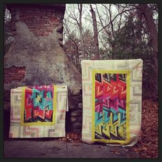 a big finish: #phoenixtwins, two custom quilts commissioned by @oncomouse and his mrs.