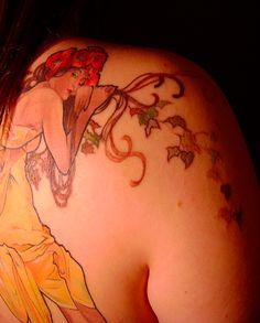 Art Nouveau Alphonse Mucha Tattoo