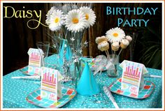 DAISY TEAL BIRTHDAY PARTY