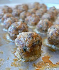 """They """"say"""" its the best meat ball ever. I'll have to give it a try, although anything made by Giada is gotta be good.use ground turkey Giada Recipes, Pork Recipes, Cooking Recipes, Meatball Recipes, Diabetic Recipes, Ww Recipes, Dinner Recipes, I Love Food, Pizza"""
