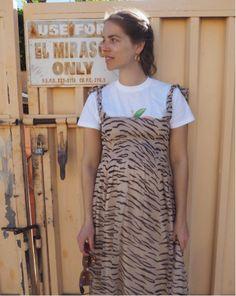 Ganni street style | Whitman Chiffon Dress | Trine Kjaer
