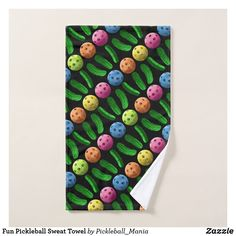 Fun Pickleball Sweat Towel