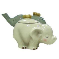 Ceramic Elephant Figurines For Cream And Sugar