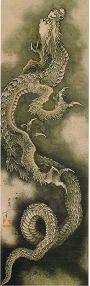 葛飾北斎ー『登り龍』 最晩年、北斎87歳: Hokusai Katsusika
