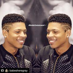 #Repost @babesheregray with @repostapp.  His cuts are always so sharp  #yazz #ytg #brysheregray #bryshereygray #teamyazz #teamhakeem #papi #sexy #handsome @yazzthegreatest #yazzthegreatest #empire #empirefox
