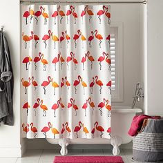 Flamingo Shower Curtain | The Company Store