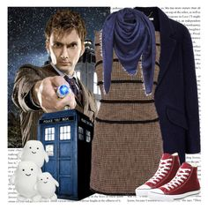 Doctor Who - David Tennant by georgina-m on Polyvore featuring Uttam Boutique, Converse, Louis Vuitton, doctorwho, tardis, davidtennant and dr