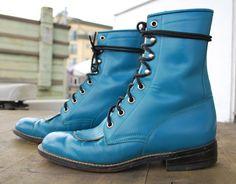 Vintage Diamond J Justin Roper boots Size 6B