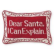 Dear Santa Needlepoint Pillow