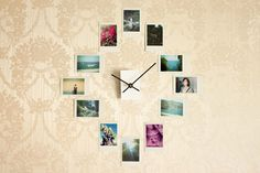 Photo Clock - what better way to tell time and tell stories too!