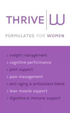 LADIES you all are going to LOVE this specially formulated THRIVE pack just for our bodies! Click the link on my page for more info and pricing details... THRIVE and SHARE Go to our LE-VEL fanpage to hear what other 5women are saying abotut their THRIVE Experience!