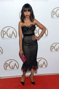 Getty Images  - TownandCountryMag.com Kerry Washington at the 24th Annual Producers Guild Awards, January 2013
