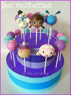 Doc McStuffins Cake Pops. Let Them Eat Cake Pops.
