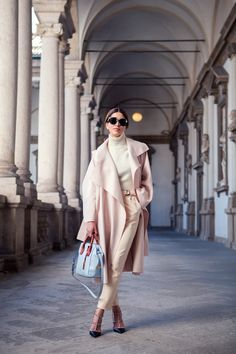 justthedesign:   Negin Mirsalehi is wearing blush... Fashion Tumblr | Street Wear, & Outfits