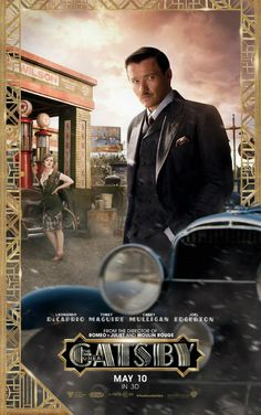 The Great Gatsby (2013) | NEW Character Movie Poster: Isla Fisher (Myrtle Wilson) and Joel Edgerton (Tom Buchanan).