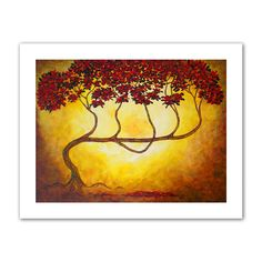 'Ethereal Tree I' by Herb Dickinson Painting Print on Canvas Poster
