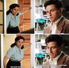"""You look terrible"" - Daniel and Peggy #AgentCarter"