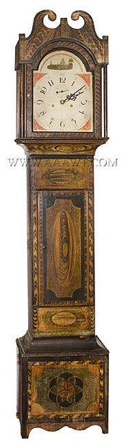 Antique Furniture_Tall Case Clocks, American clocks, Early Clocks