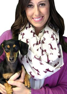 Women's Bella Dachshund Doxie Dog Infinity Circle Loop Scarf - Grey at Amazon Women's Clothing store:sale christmas birthday gift Fashion Scarves, formal, dressy scarves, pashmina shawls, shawls, wraps, cute, pretty, unique scarves, holiday scarf, holiday gifts for women, affordable, versatile shawls, designer scarves, stylish, modern, trendy, infinity circle loop shawls, sexy cute infinity scarves