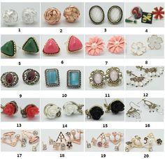 New Various Fashion Crystal Rhinestone Teardrop Silver Gold Dangle Stud Earrings #UnbrandedGeneric #DropDangle