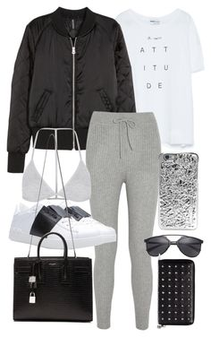 """""""Untitled #19467"""" by florencia95 ❤ liked on Polyvore featuring Zara, H&M, T By Alexander Wang, Topshop, Valentino, Yves Saint Laurent, Marc by Marc Jacobs and Alexander McQueen"""