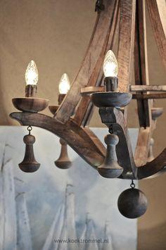 houten Hoffz luchter