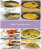 This quick and easy vegan ramen soup recipe is a healthy dinner that you can throw together in less than 30 minutes! Quick Easy Vegan, Quick Vegan Meals, Quick Easy Meals, Vegan Ramen, Vegan Soup, Ramen Recipes, Vegan Recipes, Chickpea Salad Sandwich, Ramen Soup