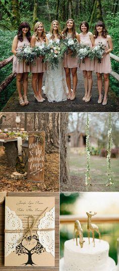 romantic outdoor forest woodland wedding ideas