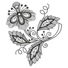 Jacobean Embroidery Patterns | Jacobean One Color embroidery design