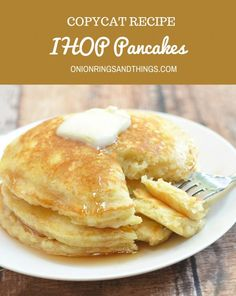 Plump and pillowy, these IHOP Pancakes copycat are just as tasty and delicious as what you'd find in the restaurant yet cost a fraction of the price. You can easily double the recipe to feed a large crowd or add chopped fresh fruits to the batter for anot Breakfast Pancakes, What's For Breakfast, Breakfast Dishes, Breakfast Recipes, Brunch Recipes, Power Breakfast, Recipes Dinner, Kraft Foods, Kraft Recipes