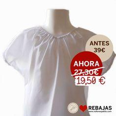 Blusa cropped top en suave algodón blanco con cuello elástico al 50% en www.nollorespatito.com