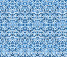 White rope on Bavarian blue fabric by su_g on Spoonflower - custom fabric