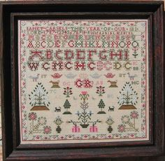 Janet Carsels, a Scotish sampler from The Scarlet Letter Stitched this one this year, ready to be framed.