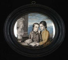 Matthias and Thomas Bordley 1767 Charles Willson Peale Born: Maryland 1741 Died: Philadelphia, Pennsylvania 1827 watercolor on ivory 3 5/8 x 4 1/8 in. (9.2 x 10.5 cm) oval Smithsonian American Art Museum Museum purchase and gift of Mr. and Mrs. Murray Lloyd Goldsborough, Jr. 1974.113