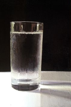 """Saatchi Online Artist: Emma May Riley; Oil Painting """"Glass of Water"""""""