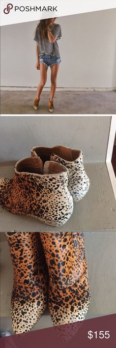 Mattise footwear booties! These are amazing booties! A few signs of wear on the toes as pictured. Very comfy and fun!! These are not free people! Free People Shoes Ankle Boots & Booties