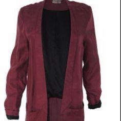 Second female - burgundy blazer