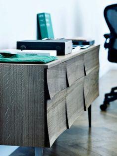 """Manufacturer: Muuto (www.muuto.com)  Size: 70.4″W x 27""""H x 15""""D (Leg Height 10.6″)  Material: Oak"""
