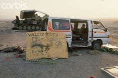 Welcome Sign After Iraqi Defeat - TL014882 - Rights Managed - Stock Photo - Corbis