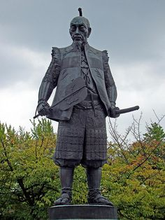 Statue of Toyotomi Hideyoshi, feudal lord who completed the 16th-century unification of Japan begun by Oda Nobunaga.
