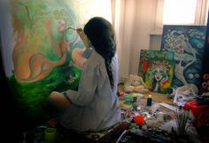 Paintings by Dana Stefania Apostol : I wish you a good afternoon,I have a painted one w...