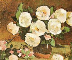 Stefan Luchian Bun Bun, Flower Paintings, Art World, Romania, Teaching Resources, Flower Art, Art Gallery, Sketches, Watercolor