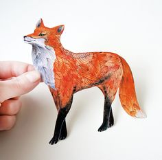 I dig this fox sticker on Etsy! waterproof vinyl sticker Fox by TevaGallery