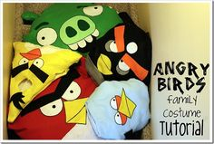 angry birds costume tutorial  http://www.twindragonflydesigns.com/2011/09/angry-birds-family-costume-tutorial.html